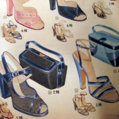 1950s vintage styles of shoes bags speigel book