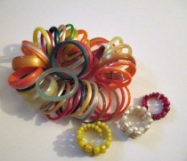 retro colored vintage lucite moonglow bracelets 50s and 60s